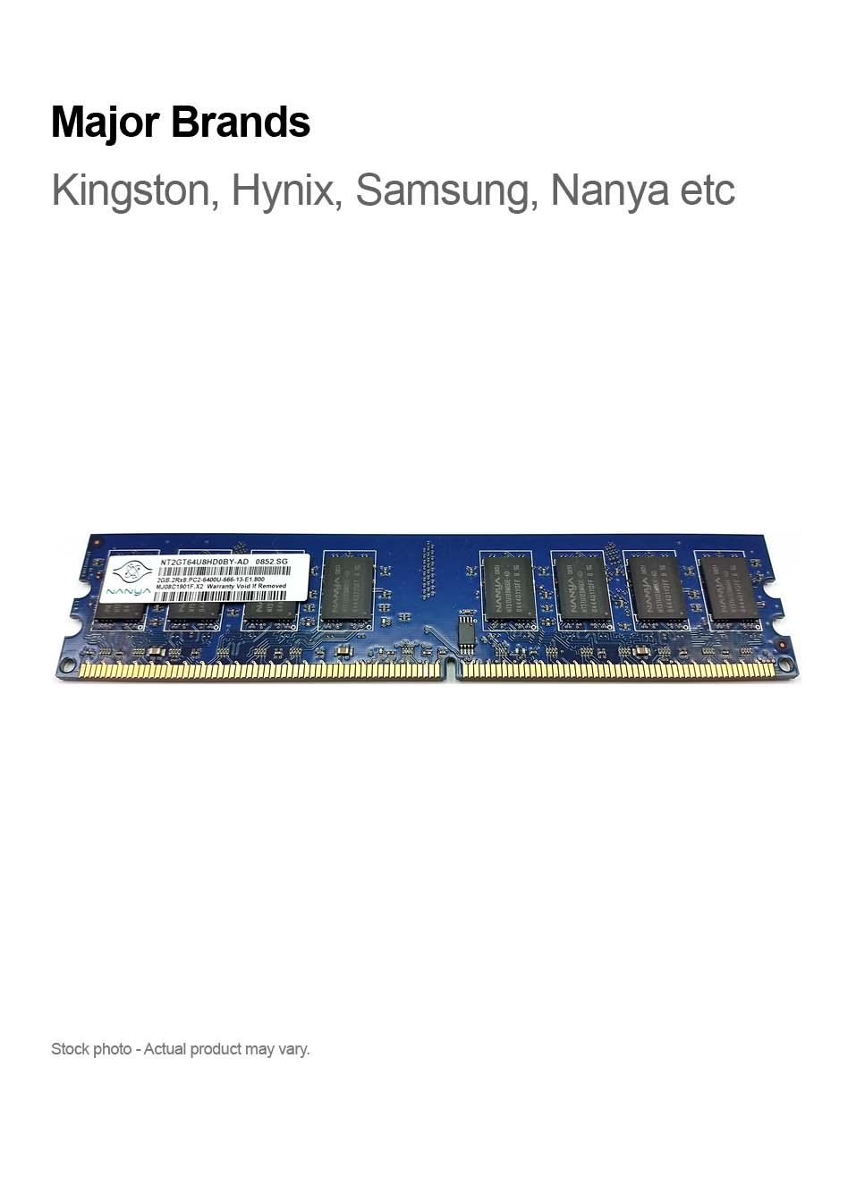 2gb Pc2 6400 Ddr2 800mhz 240 Pin 2rx8 Major Brands Compupoint Memori Pc Kingston