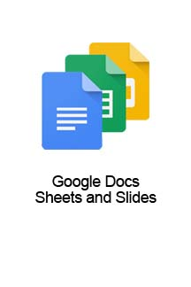 Google Docs, Sheets and Slides