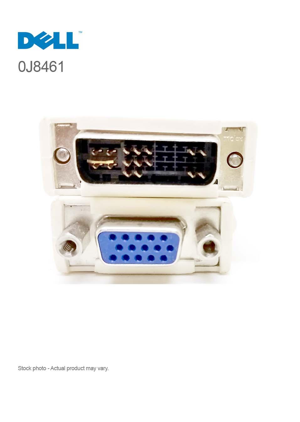 Dell Dvi To Vga Adapter Converter 0j8461 Compupoint Conector Dms 59 Dual Originall