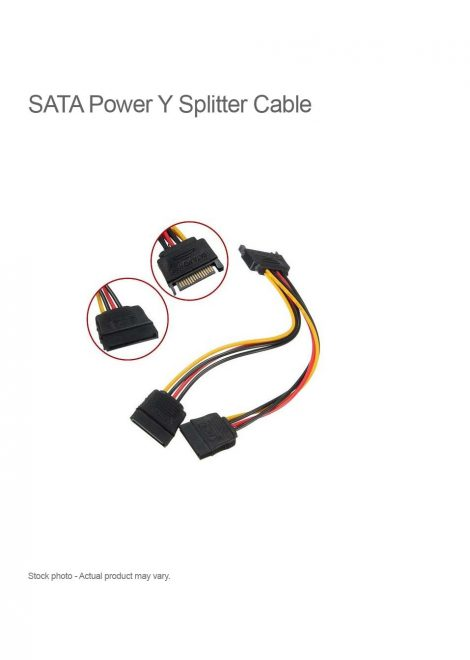 SATA Power Y Splitter Cable15 Pin M-2F 15cm