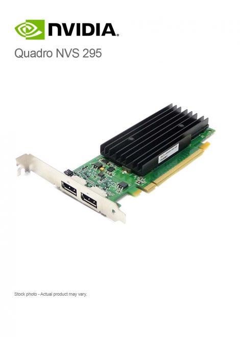 nVidia Quadro NVS 295 2xDP 256MB GDDR3 PCI-e x16 Graphics Adapter