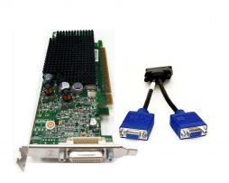 Dell ATI Radeon X300SE 128MB PCIe x16 w/ DMS-59 to Dual VGA splitter