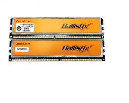 Crucial Ballistix 2GB (2 X 1GB) DDR2 800MHz PC2 6400 240-pin BL12864AA804