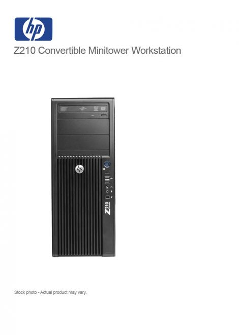 HP Z210 Convertible Minitower Workstation