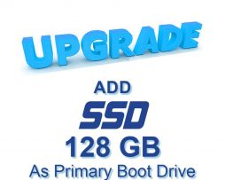 ADD 128GB SSD as Primary Boot Drive