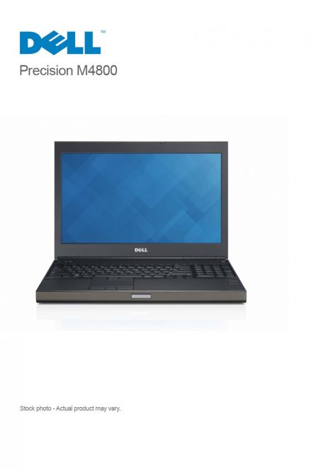 Dell Precision M4800 Mobile Workstation