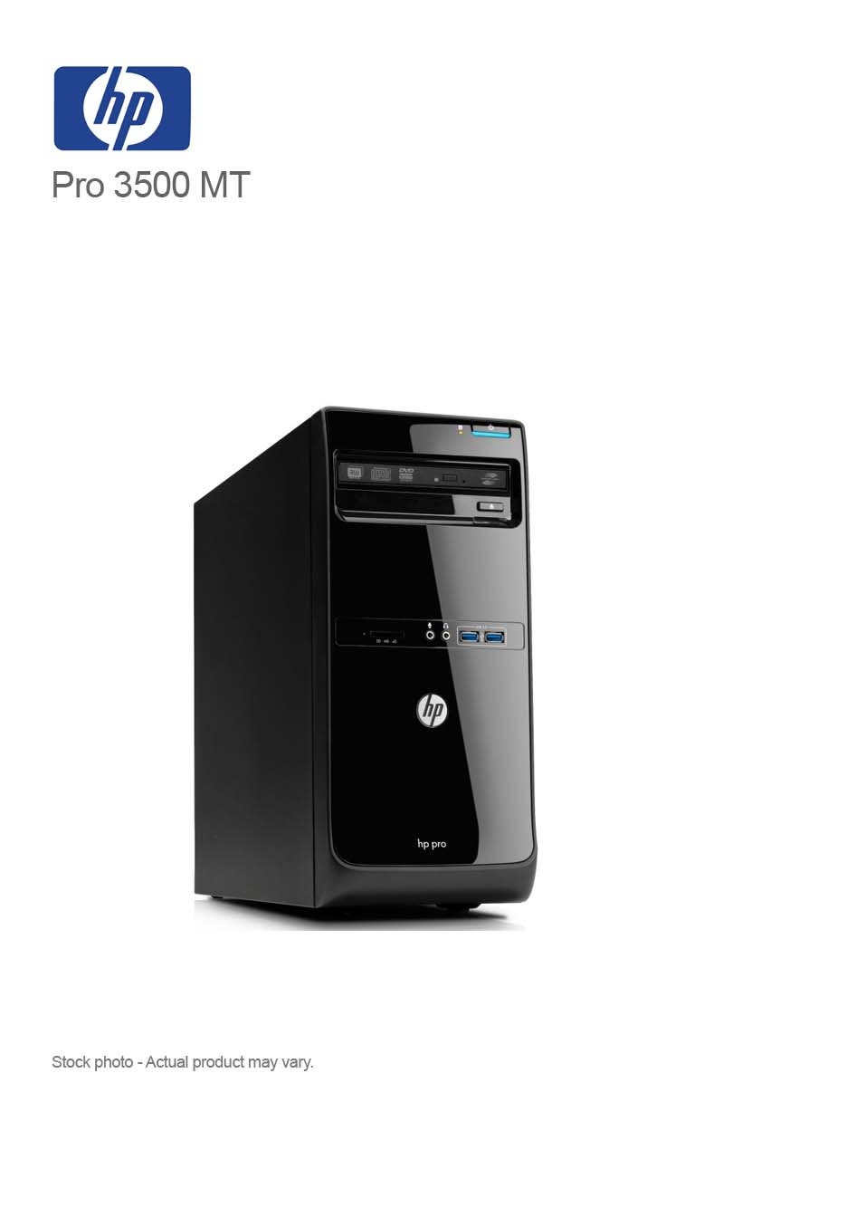 HP Pro 3500 Core i5-3470 3 60GHz 8GB 2 TB DVDRW WIN 10