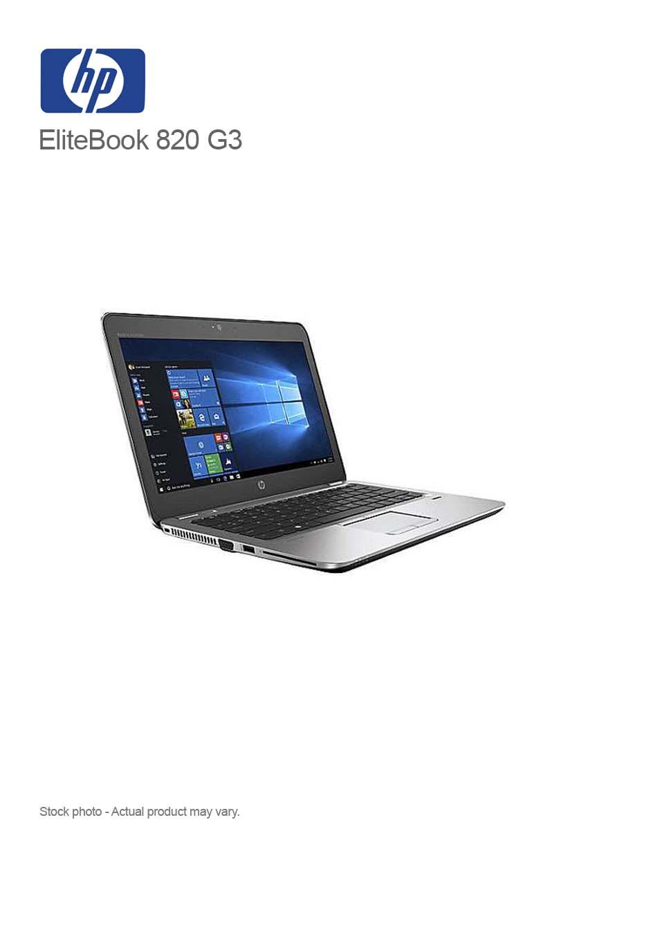 HP EliteBook 820 G3 Core i5-6300U 8GB 250GB SSD 12 5