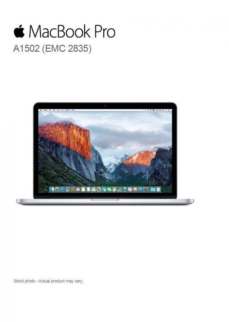 Apple MacBook Pro A1502 (EMC 2835), Early 2015