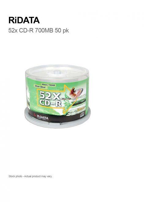 RiDATA 52x CD-R Silver 80min 700 MB 50 PCS