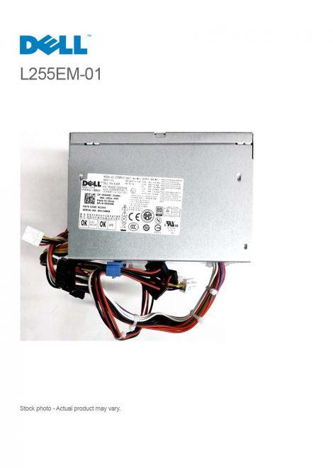 Dell 255W Power Supply for OptiPlex 980 Tower L255EM-01 P/N PS-6261-1DB-RoHS, P/N K340R