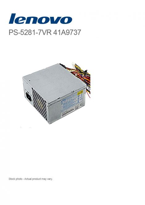 Lenovo ThinkCentre 280W PSU LITEON PS-5281-7VR 41A9737 for M57 6179 Tower