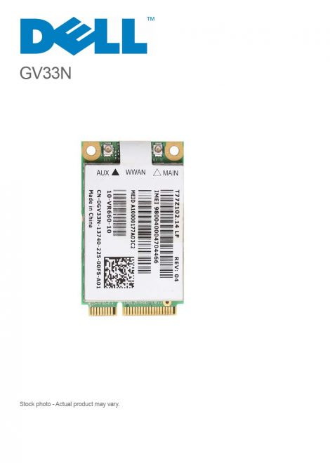 DELL GV33N Mini PCIe T77z102.14 LF Wireless WWAN Card