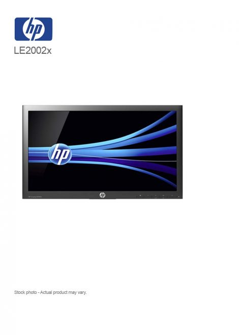 """HP LE2002x 20"""" LED Monitor 1600 x 900 at 60 Hz"""